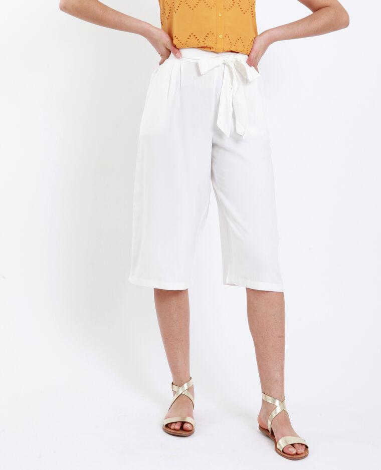 Gonna pantalone morbida bianco