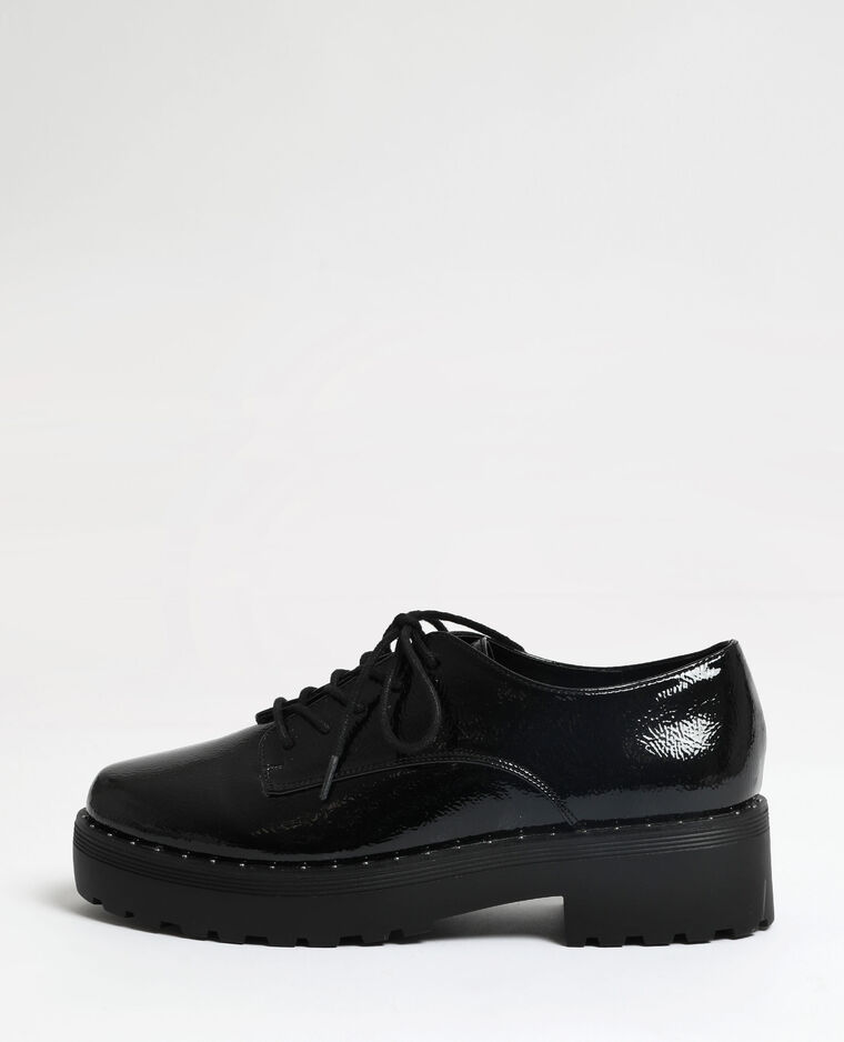 Scarpe derby in vernice nero
