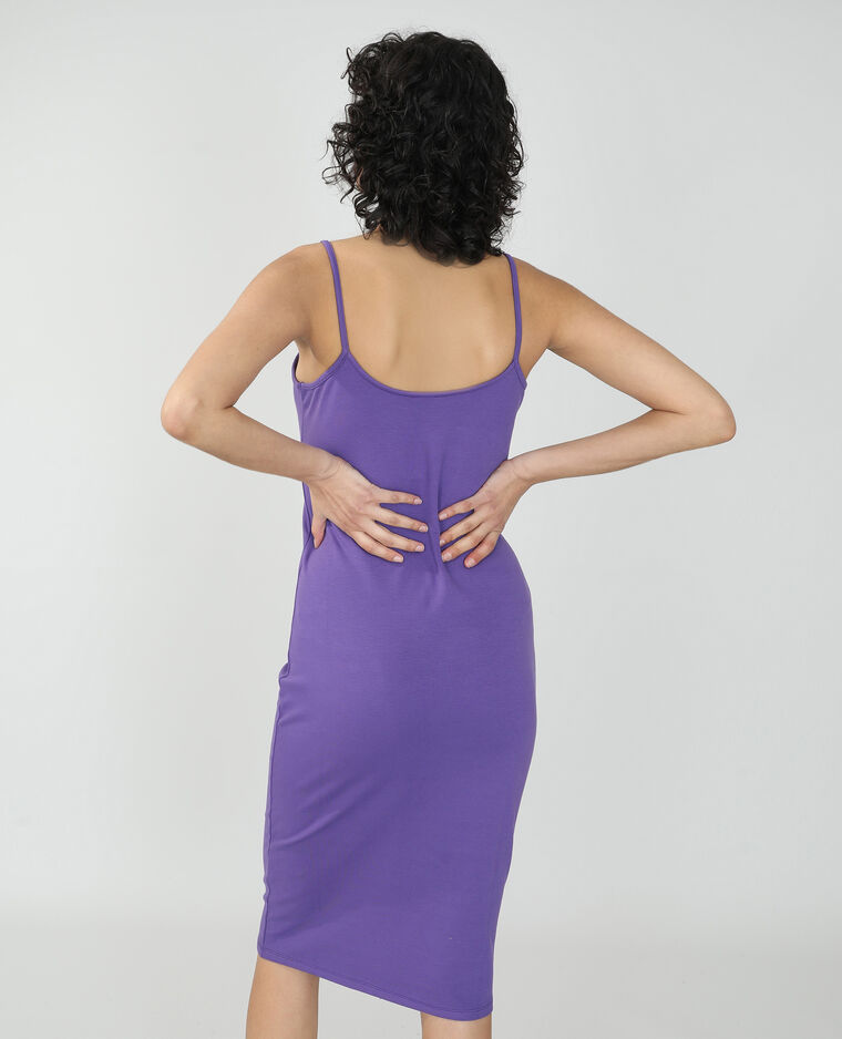 Abito lungo aderente viola - Pimkie