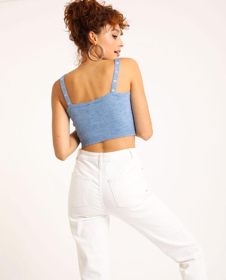 Brassière in maglia blu
