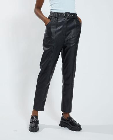 Pantalone a carota in similpelle nero - Pimkie