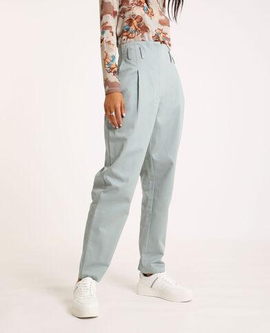 Pantalone city high waist grigio