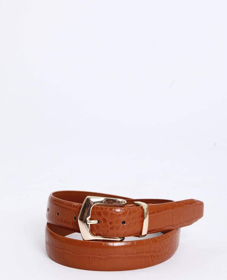 Cintura coccodrillo caramello