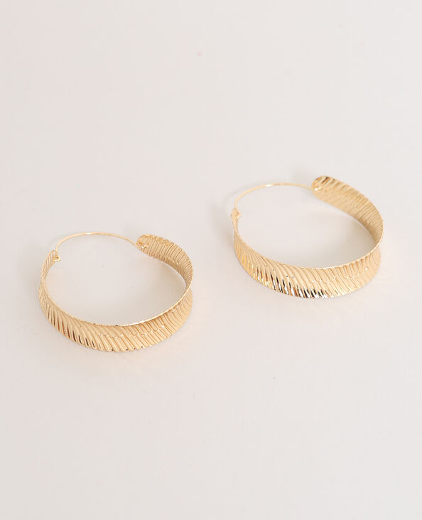 Orecchini ad anello dorato
