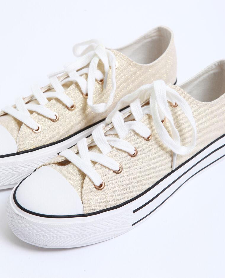 Scarpe sportive in tela dorato