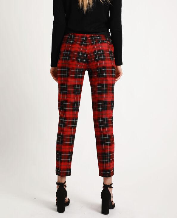 Pantalone a quadri rosso