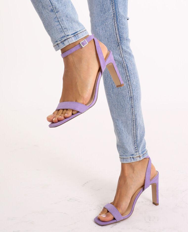 Sandali con tacco rosa