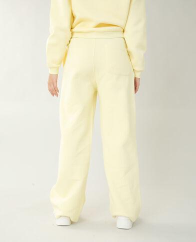 Pantalone da jogging in tessuto felpato giallo pallido - Pimkie