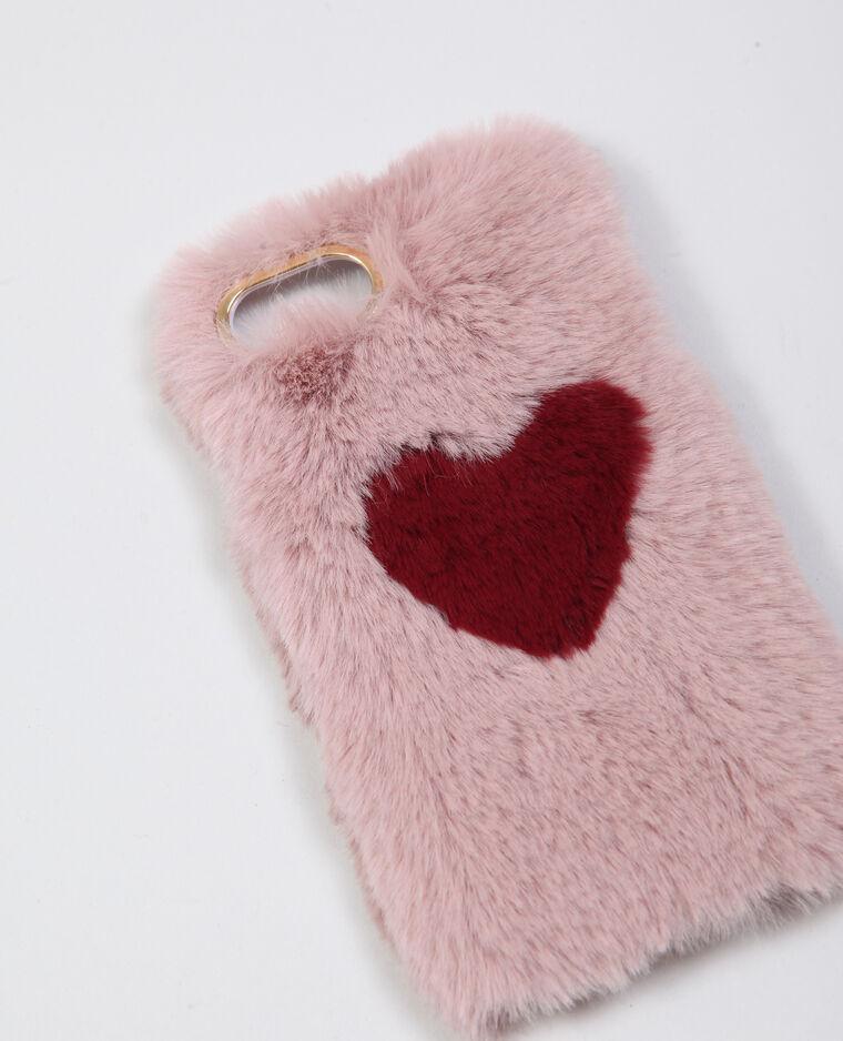 Custodia in pelliccia ecologica rosa