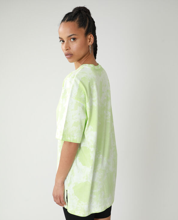 T-shirt oversize tie and dye verde - Pimkie