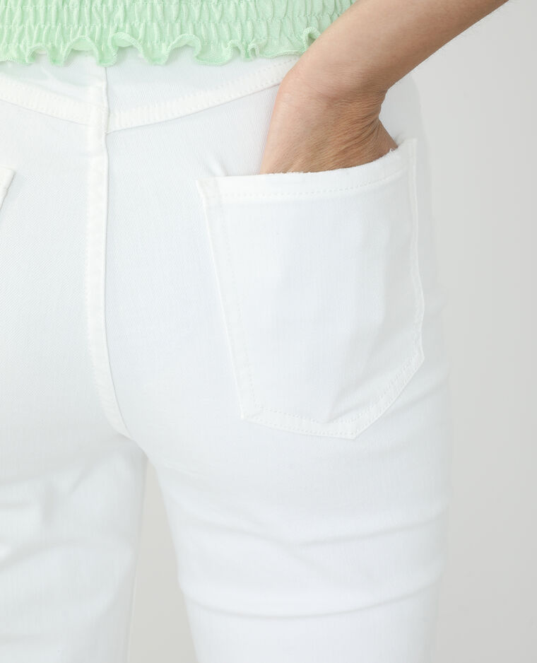Jeans straight high waist écru - Pimkie