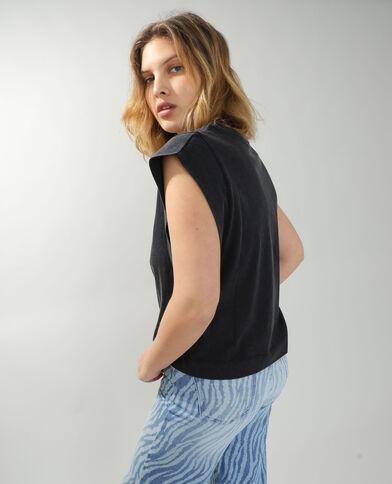 T-shirt ampia grigio antracite - Pimkie
