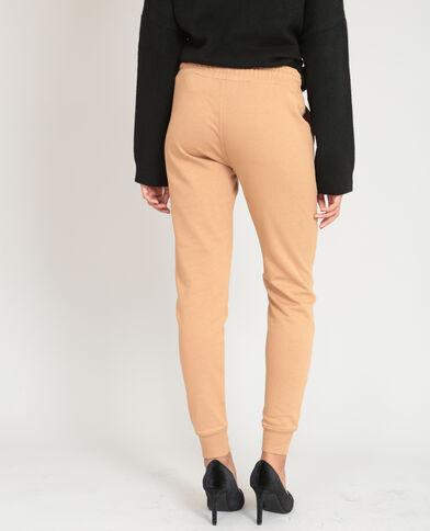 Pantalone da jogging cammello