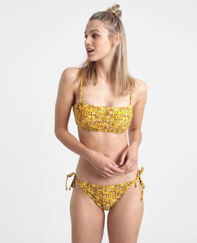 Pezzo sopra di bikini pitone giallo