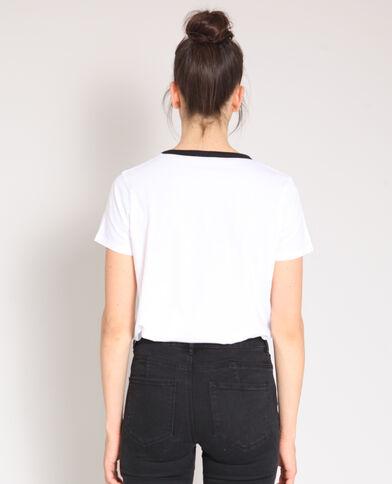 T-shirt New Wave bianco