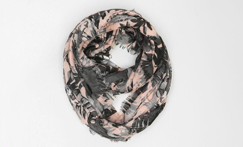 Snood sottile stampato rosa antico