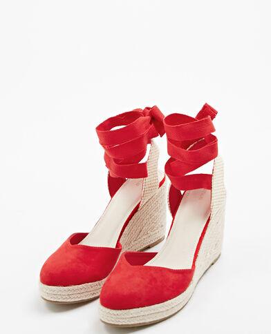 Sandali con la zeppa rosso