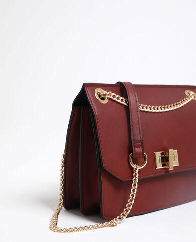 Piccola borsa in similpelle bordeaux