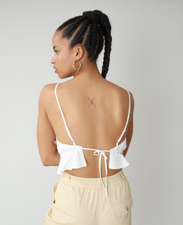 Top in voile bianco sporco - Pimkie