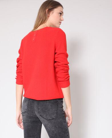 Pull in maglia fantasia rosso