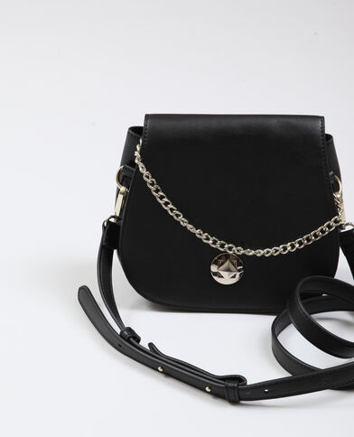 Piccola borsa in similpelle nero