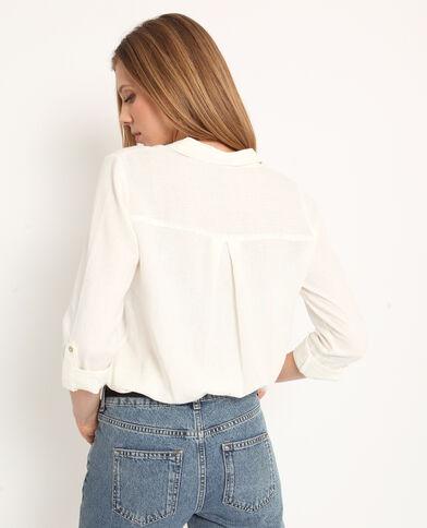 Camicia 55% lino bianco sporco
