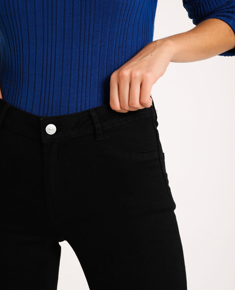 Jeggings mid waist nero
