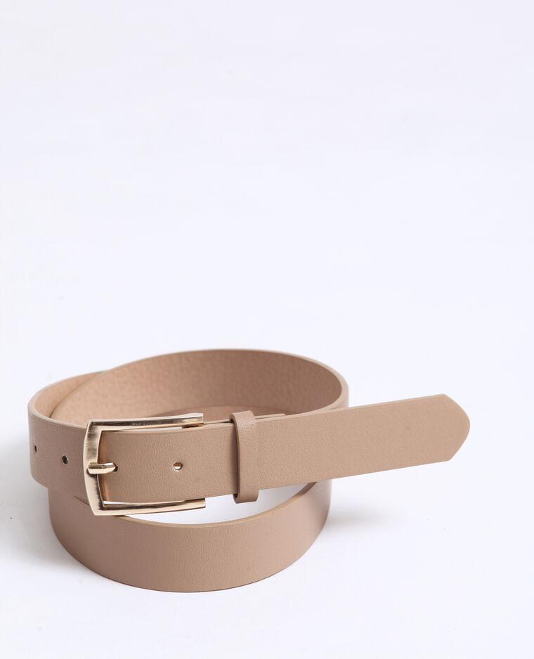 Cintura in finta pelle beige