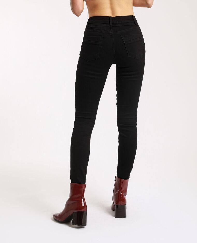 Jeans skinny da biker nero