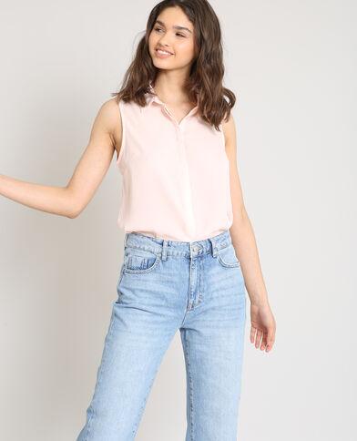 Camicia senza maniche rosa
