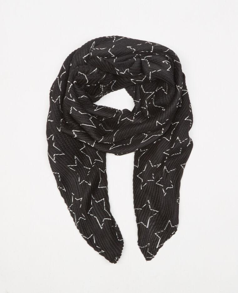 Foulard plissettato stelle nero