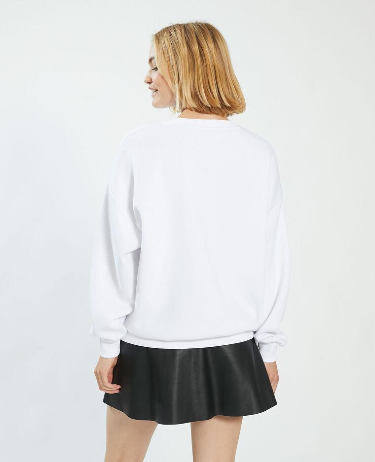 Felpa felpata oversize bianco - Pimkie