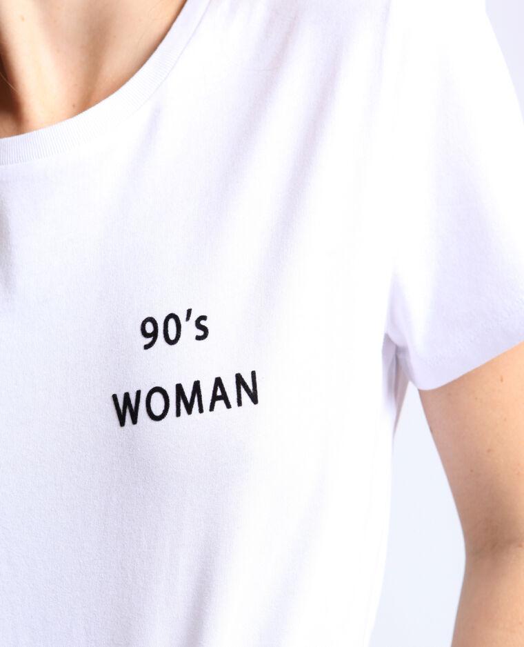 T-shirt 90's woman bianco