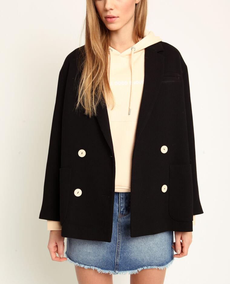 Cappotto corto nero