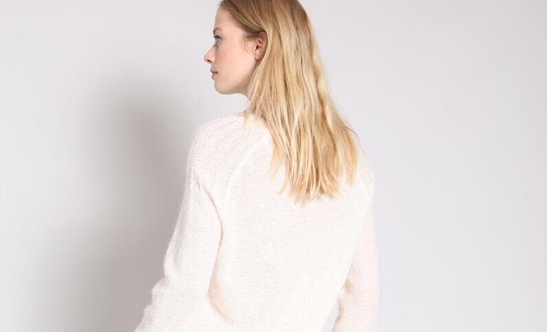 Pull leggero bianco sporco