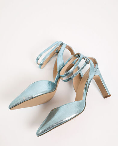 Sandali iridati blu elettrico