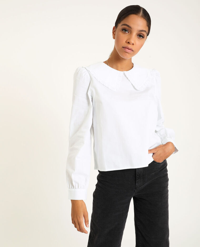 Camicia con collo ampio bianco - Pimkie
