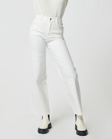 Jeans wide leg high waist écru - Pimkie