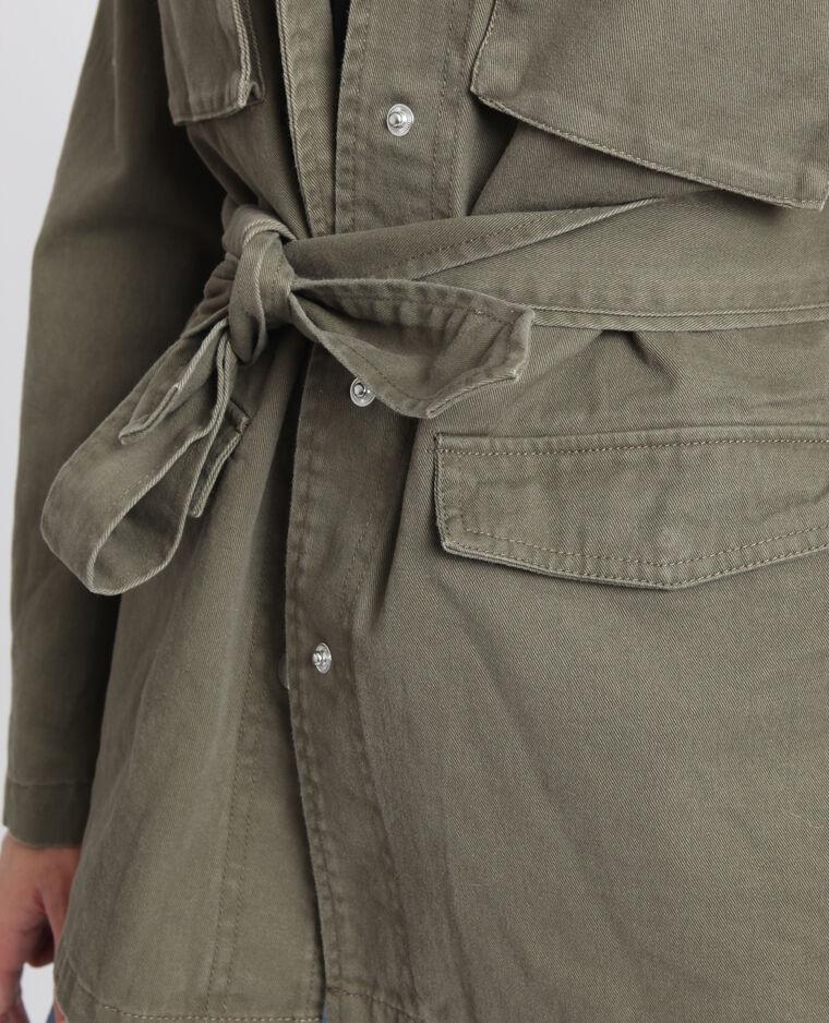 Giacca army con cintura kaki