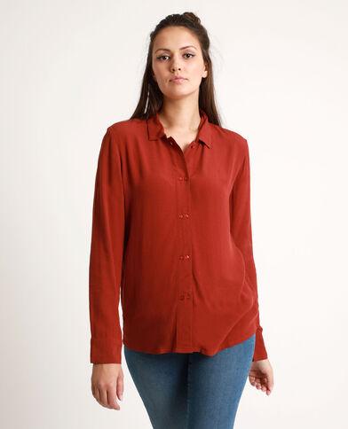 Camicia morbida rosso scuro
