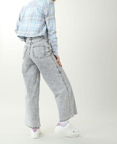 Jeans wide leg grigio