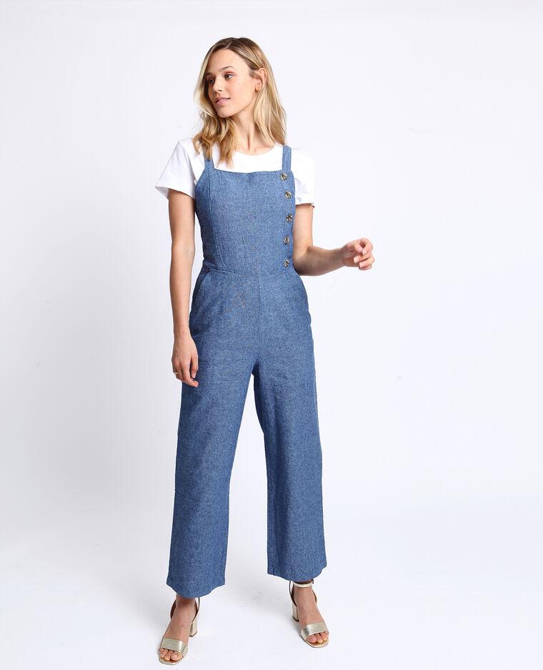 Abito pantalone abbottonato blu grezzo