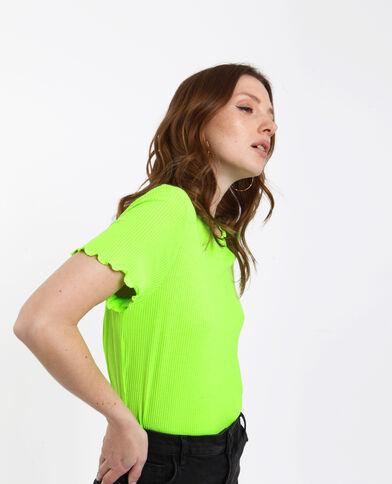T-shirt a coste verde acqua