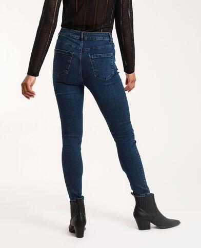 Jeans skinny a vita alta blu grezzo