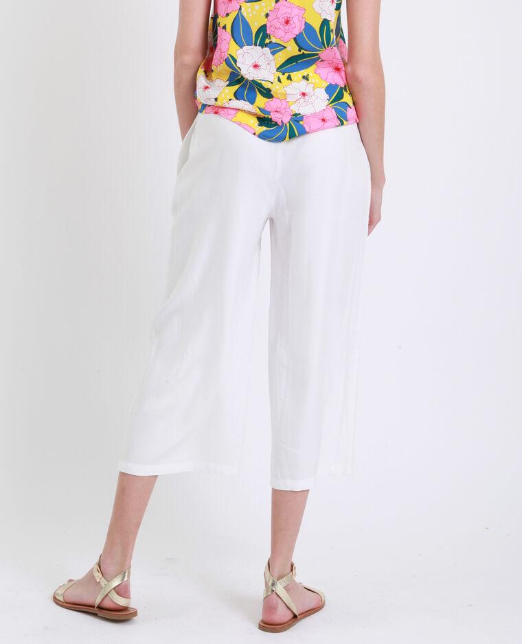 Pantalone con gambe larghe bianco - Pimkie