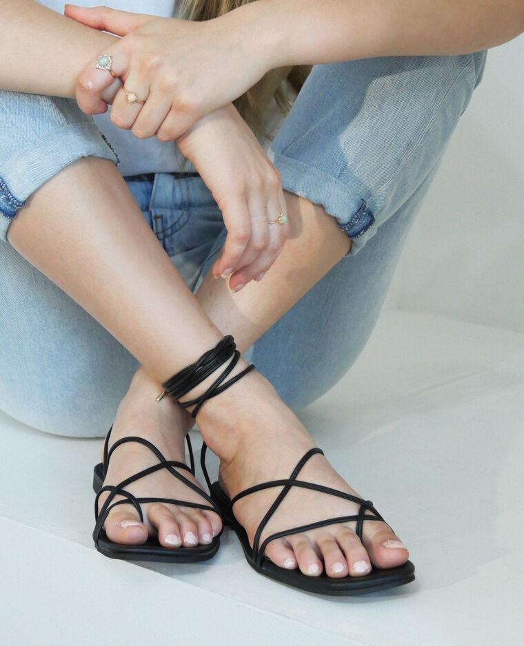 Sandali con lacci nero - Pimkie