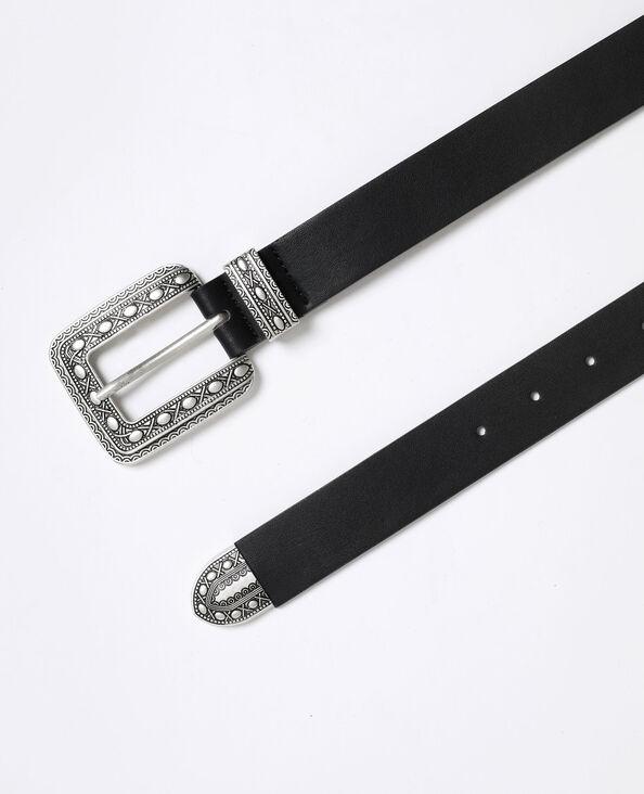 Cintura stile western nero