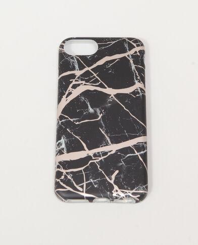 Custodia per smartphone marmorizzata nero