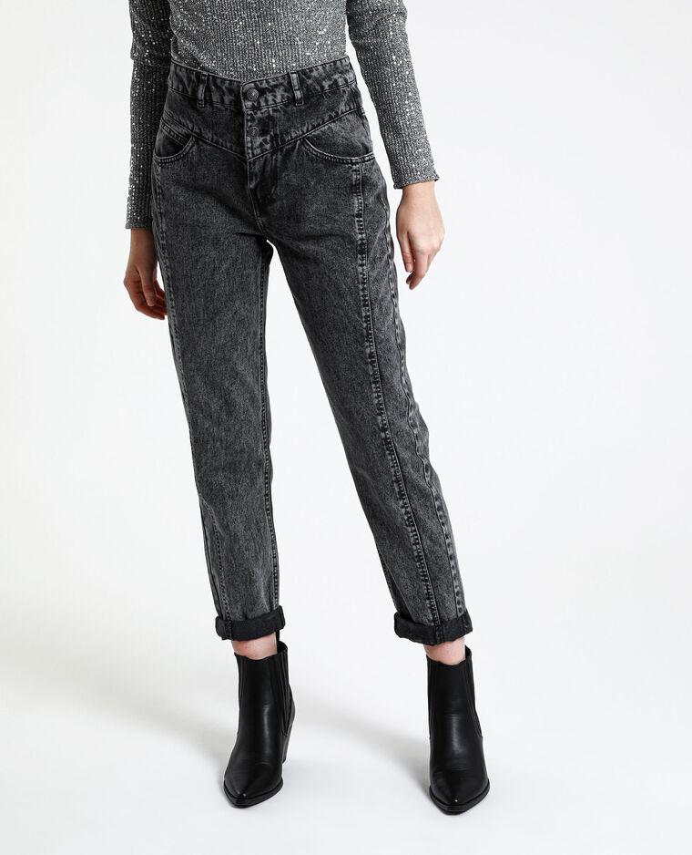 Jeans mom délavé grigio