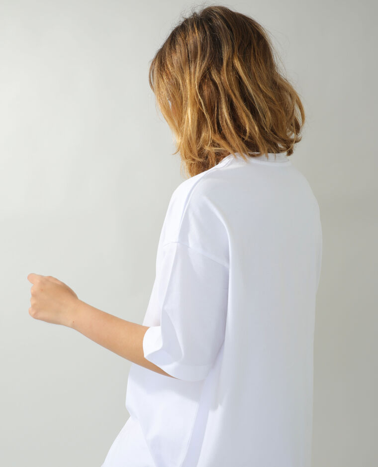 T-shirt basic oversize bianco